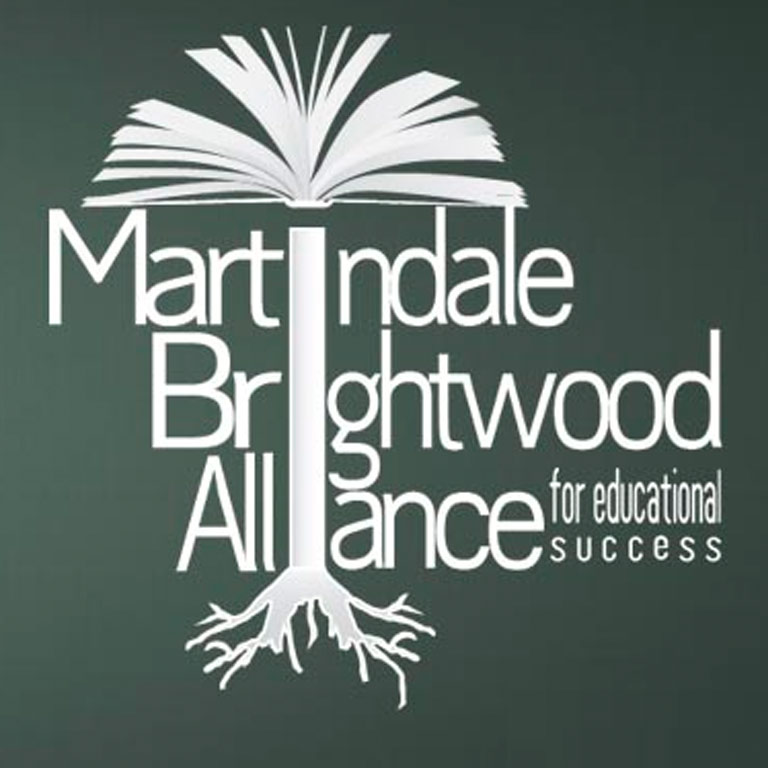 A green square that says Martindale Brightwood Educational Alliance for Success.